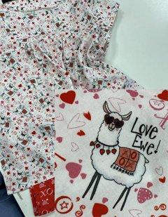 pjs with love ewe fabric