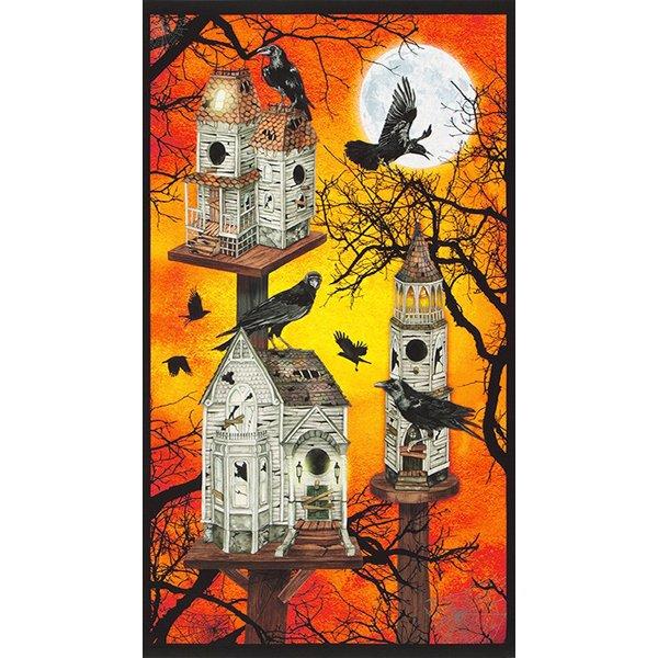 Raven Moon Spooky Birdhouses panel