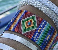 flat peyote bracelet