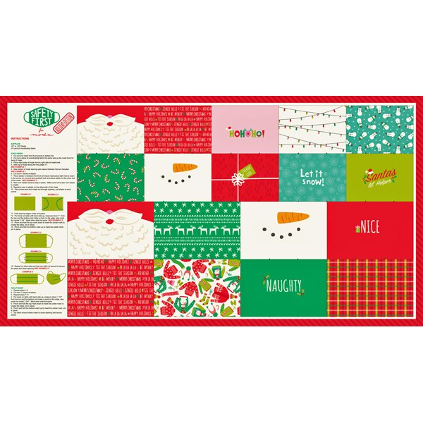 Safety First Holiday Mask Panel