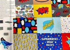 super hero mask panel