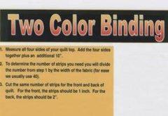 two color binding