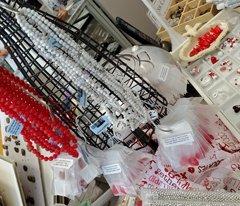 valentine's day bead display
