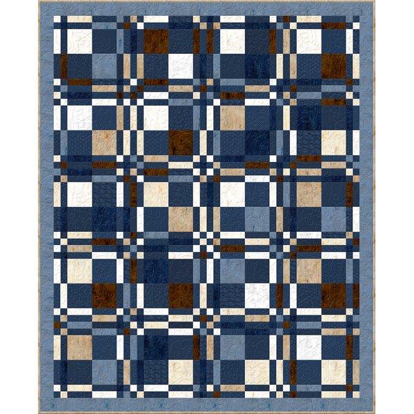 Wild West Checkered Plaid quilt kit