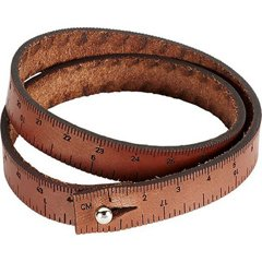 wrist ruler, medium brown