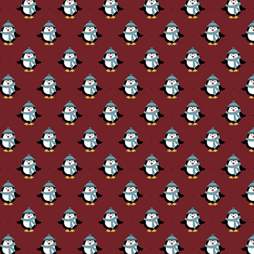 Flannel Mini Penguin Red