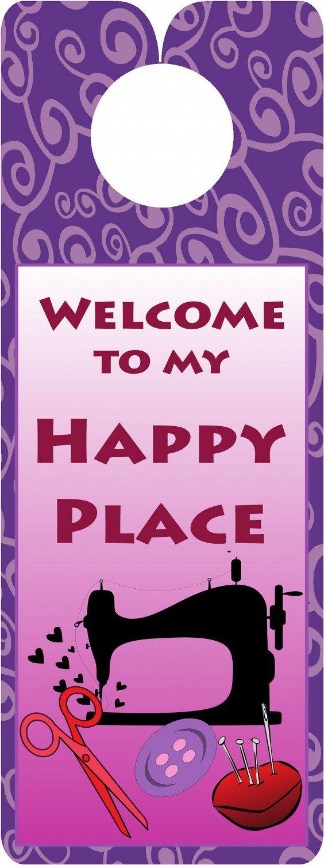 Happy Place door hanger