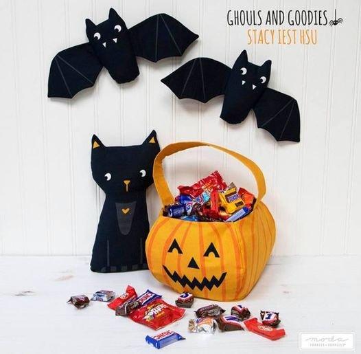 Ghouls Goodies Treat Bag Panel