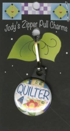 Quilter Zipper Charm