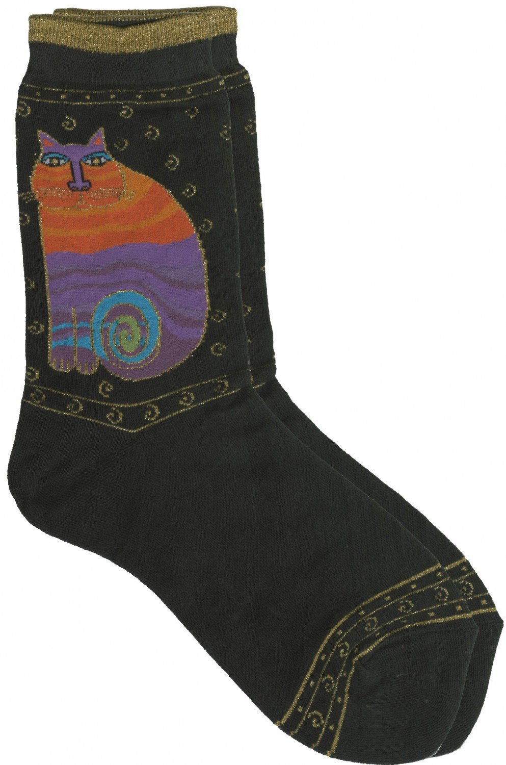Rainbow Cats Black Socks