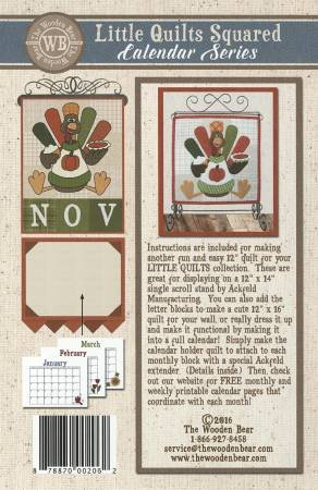 Little Quilts Squared November- Turkey & Trimmings