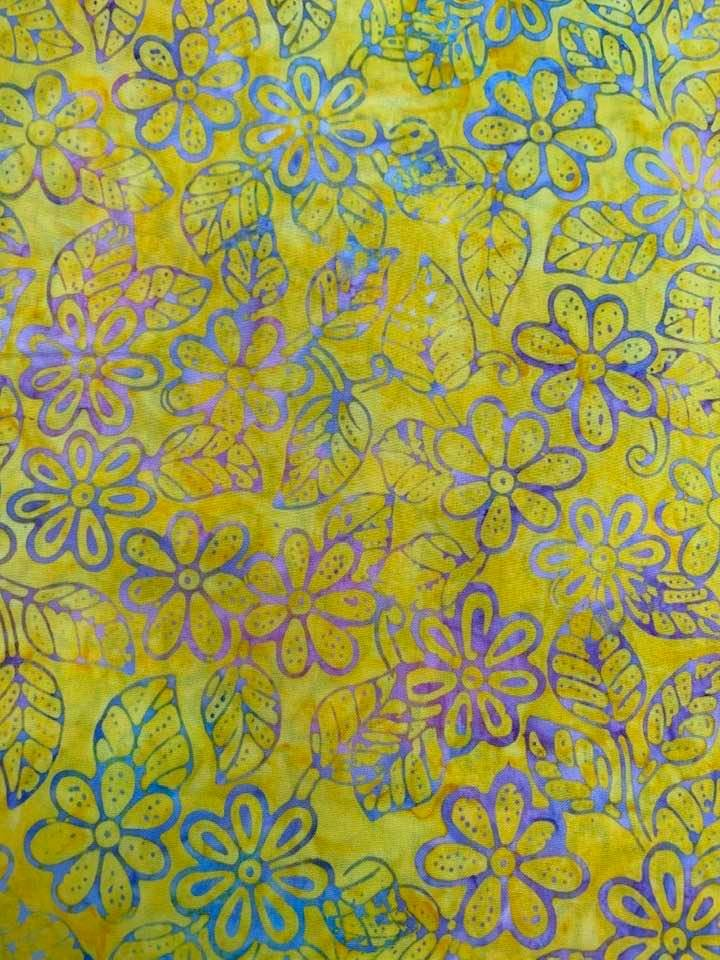 Yellow Daisy Batik 2.75 yd. CLOSEOUT