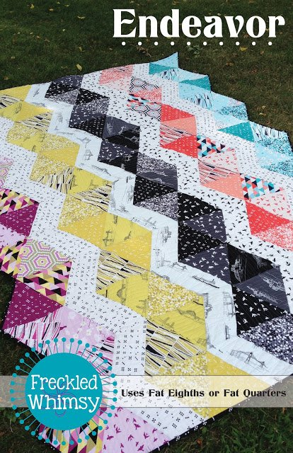 Endeavor Quilt Pattern by Freckled Whimsy FQ friendly