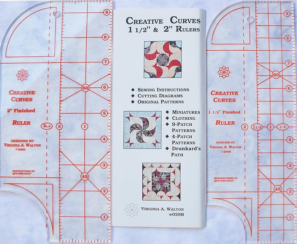 Creative Curves 2 & 1 1/2 Rulers