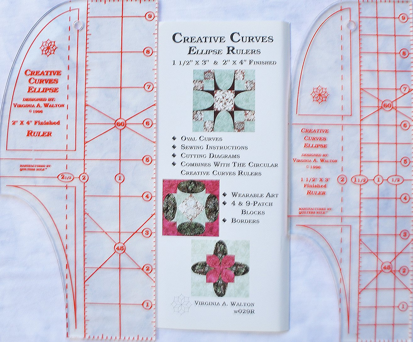 Creative Curves Ellipse Rulers (1 1/2 X 3 & 2 X 4)