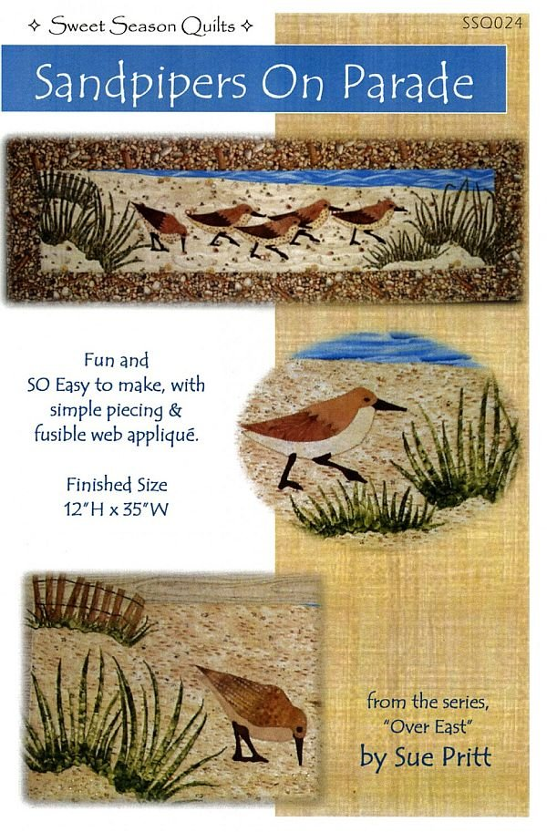 Over East - Sandpipers on Parade  Fusible Applique Pattern by Sweet Seasons Designs