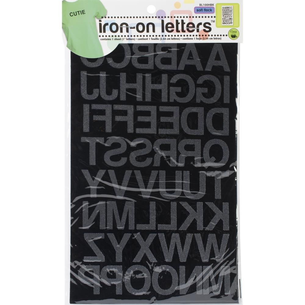 Iron-on Black Letters
