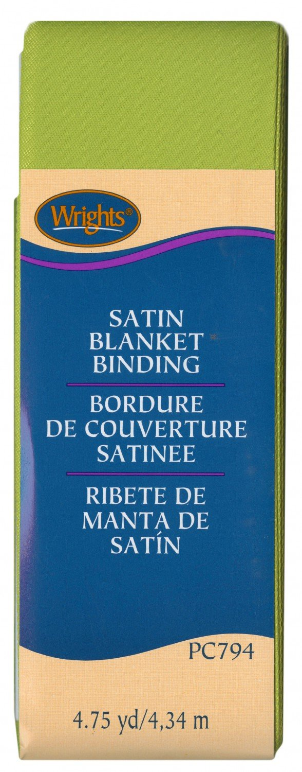 Satin Blanket Binding - Kiwi