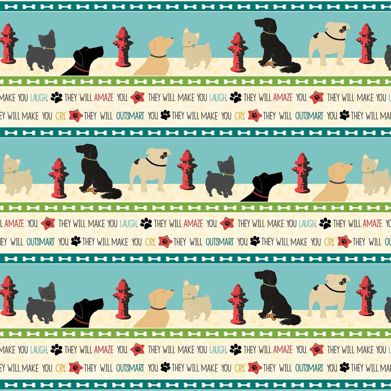 23578 Dog Wisdom Stripe
