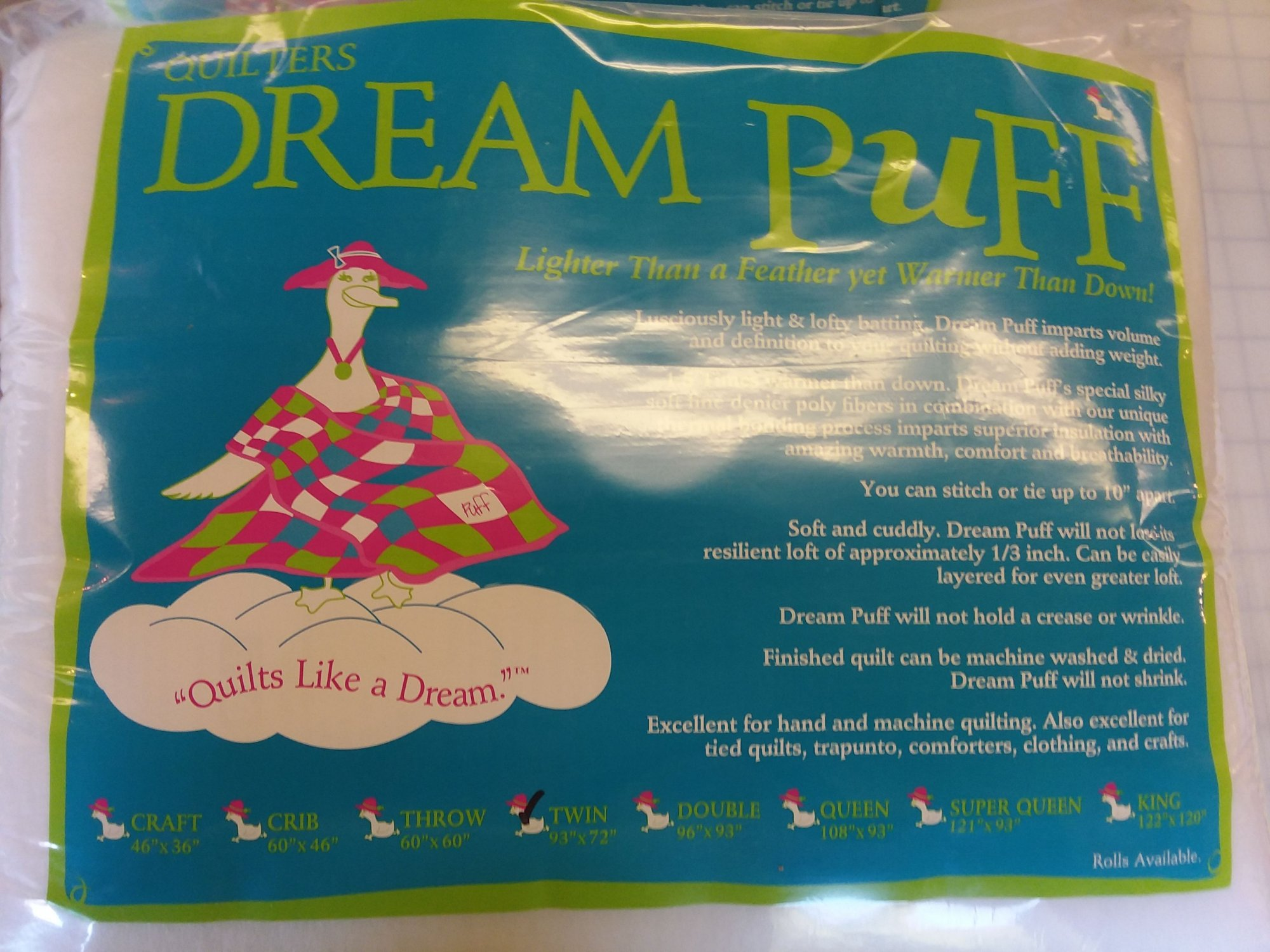 Quilters Dream Puff Throw