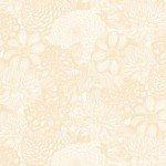 Cream Floral Toile 108in Wide Back