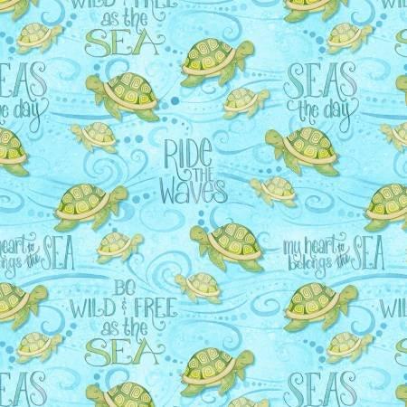 Light Blue Sea Turtles