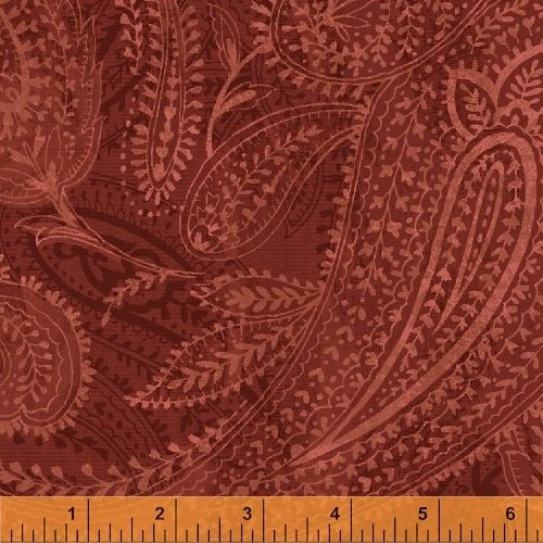 23846 Red Paisley Backing