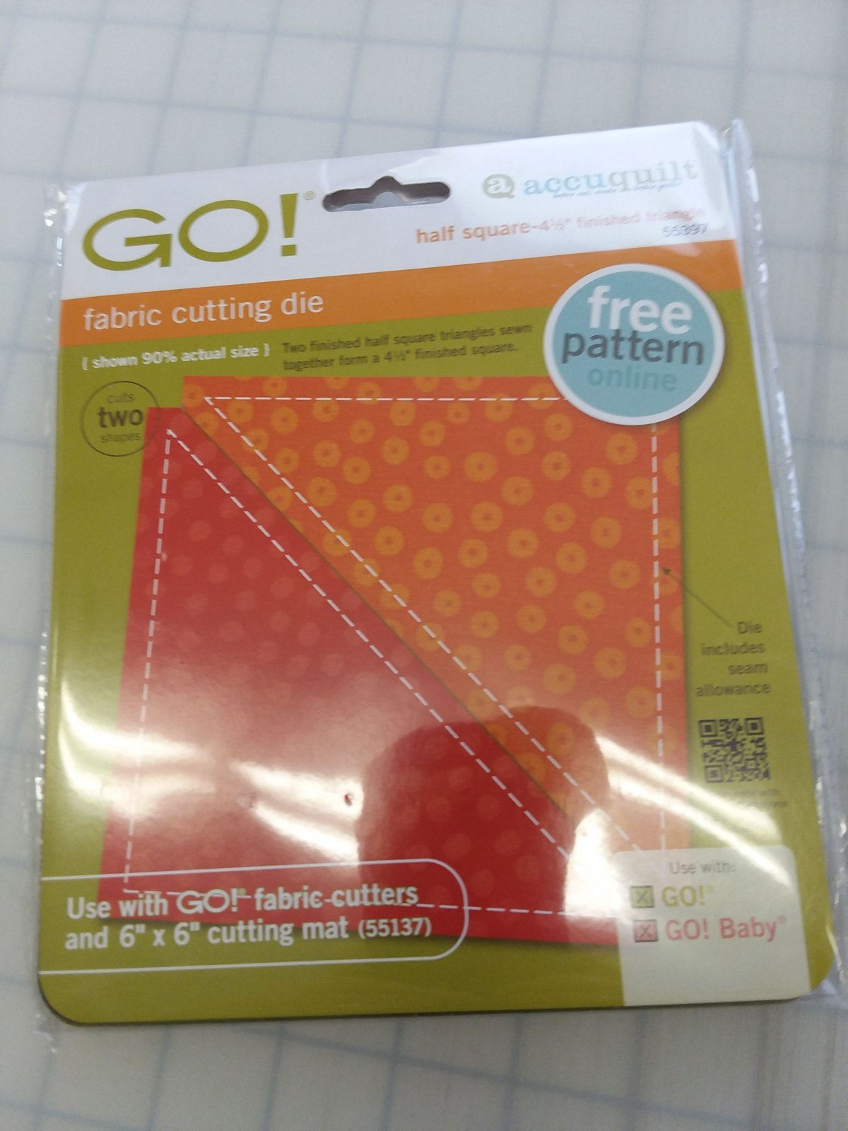 Accuquilt GO! Single Cutting Mat 6 x 6 - (#55137)