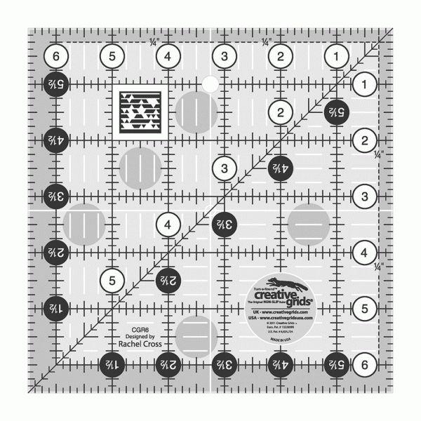CGR6 Creative Grid Square Ruler