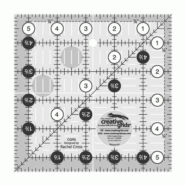 CGR5 Creative Grid Square Ruler
