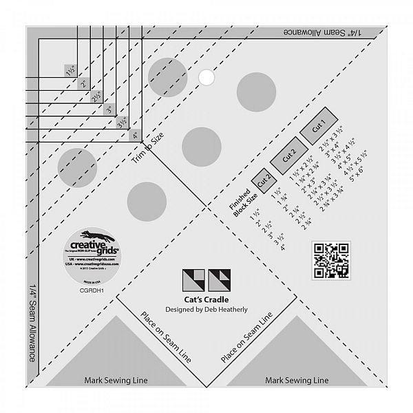 CGRDH1 Creative Grid Cat's Cradle Square Ruler