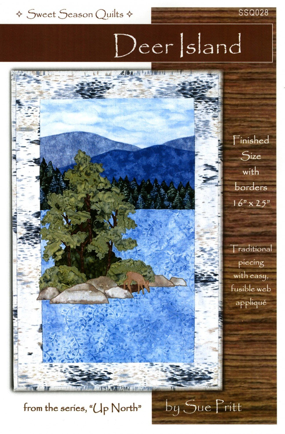 Up North - Deer Island  Fusible Applique Pattern by Sweet Seasons Designs