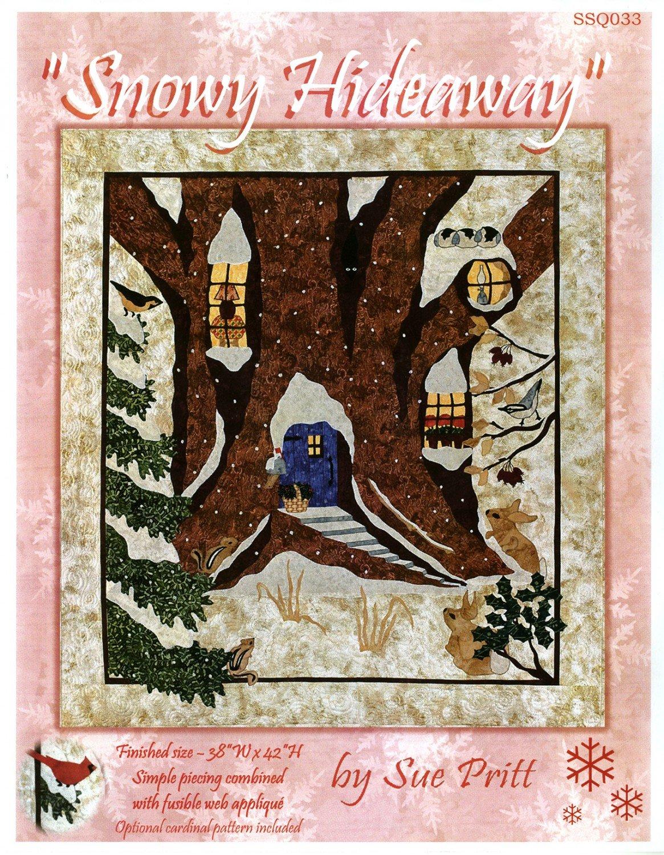 Snowy Hideaway Fusible Applique  Pattern by Sweet Seasons