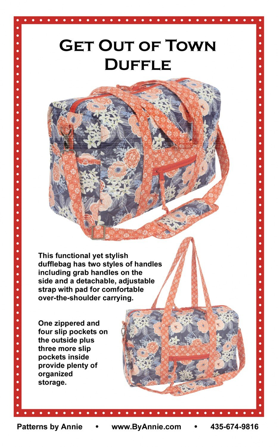 Get Out of Town Duffle Bag 2.0 (Patterns by Annie)
