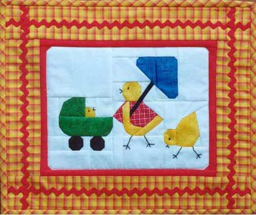 Chicken Little Quilt Pattern by MH Paper Pieced Designs