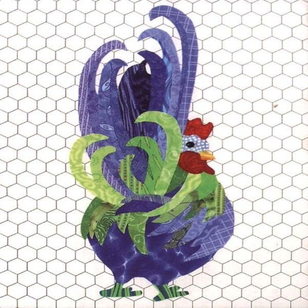 Roger the Radical Rooster Fusible Applique  Pattern