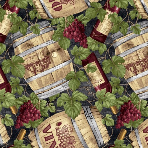 30114 Wine Barrels with Grapes B9180-66
