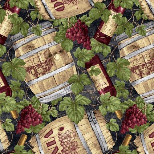 30114 Wine Barrels with Grapes B9180-66