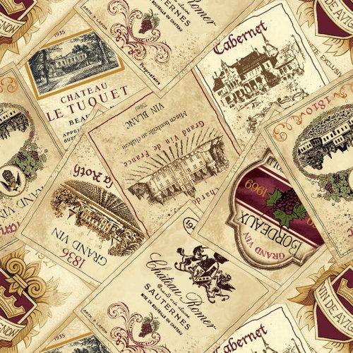30115 Vineyard Valley Labels Ecru B9184-44