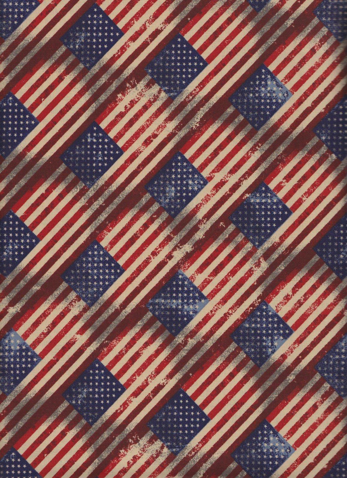 23827 Patriotic Antique Flags