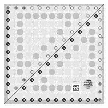 CGR12 Creative Grids Quilt Ruler 12-1/2in Square
