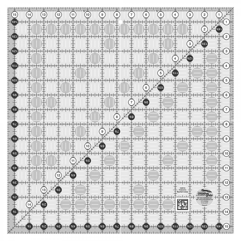 CGR15 Creative Grid Square Rlr 15 Lap Board
