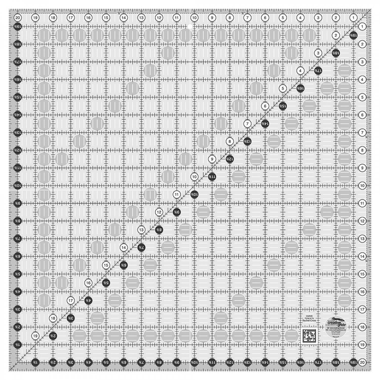 CGR20 Creative Grids Square Ruler