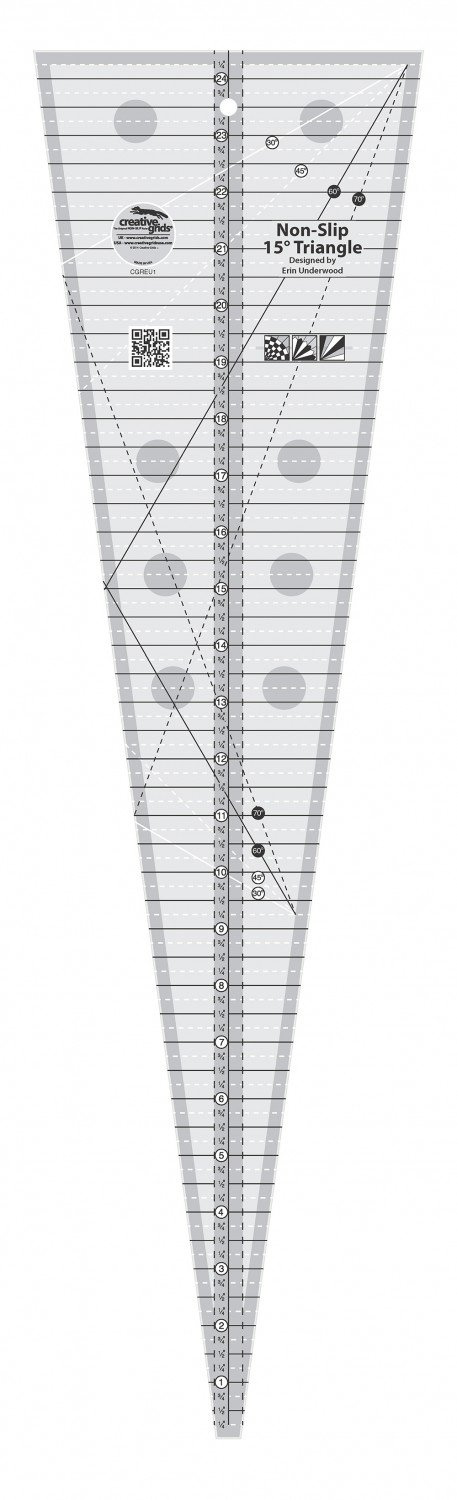 CGREU1-15 Degree Triangle Ruler