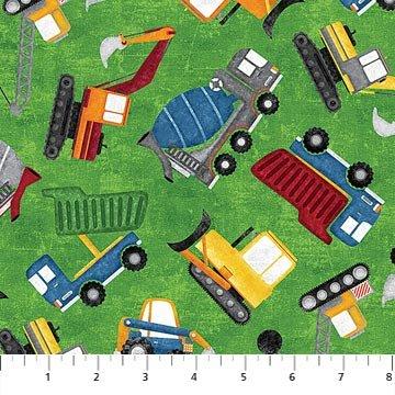 CONSTRUCTION Zone Green Trucks