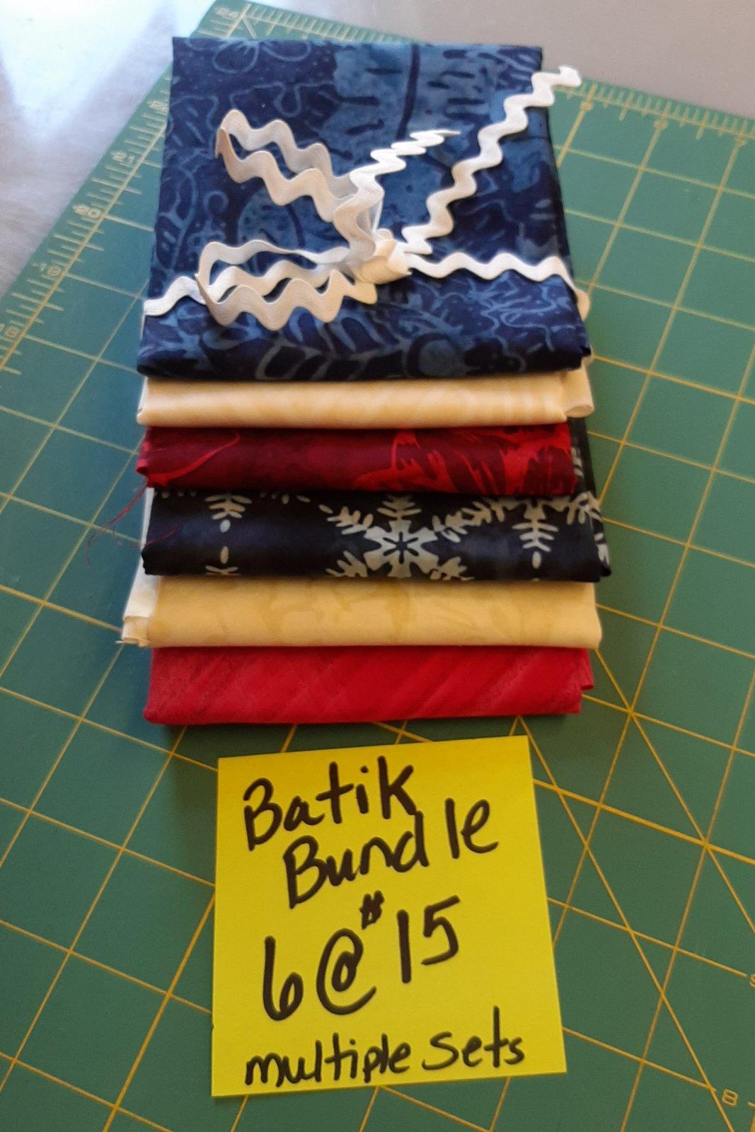 Batik Fat Quarter 6 pack bundle
