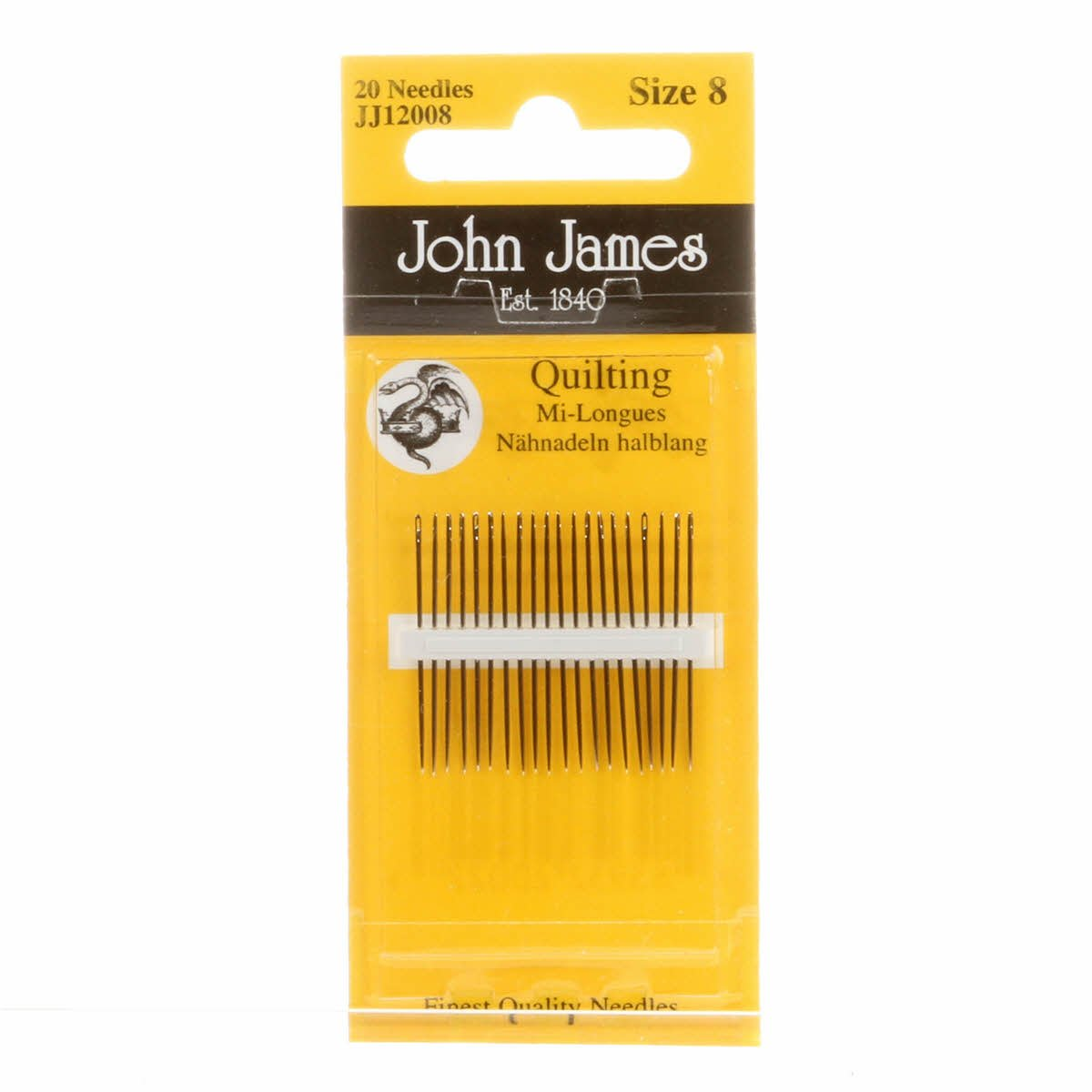 John James Quilting Needles Size 8 - 20 needles