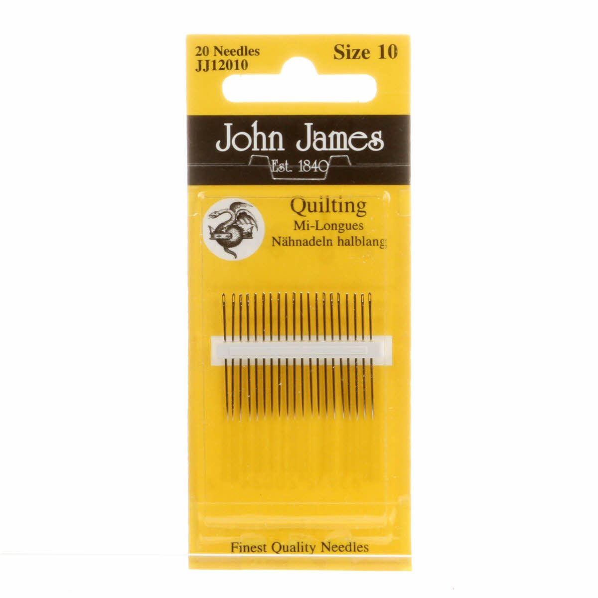 John James Quilting Needles Size 10 (JJ120-10)20 needles