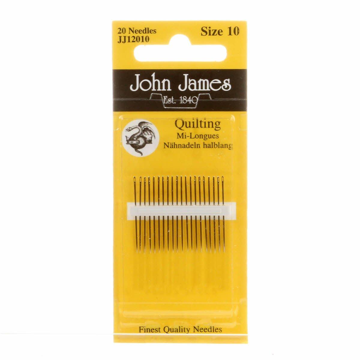 John James Gold Quilting Needles Sz 10 - 6 needles