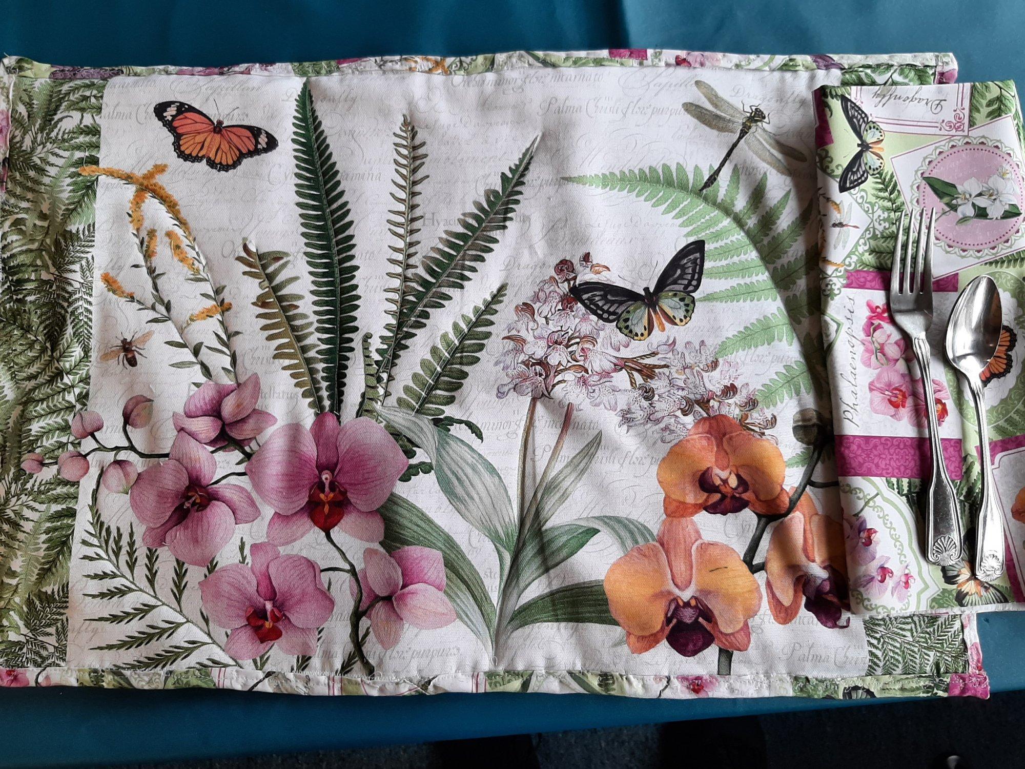 Orchid Blooms Place Mat Kit - 2 Mats
